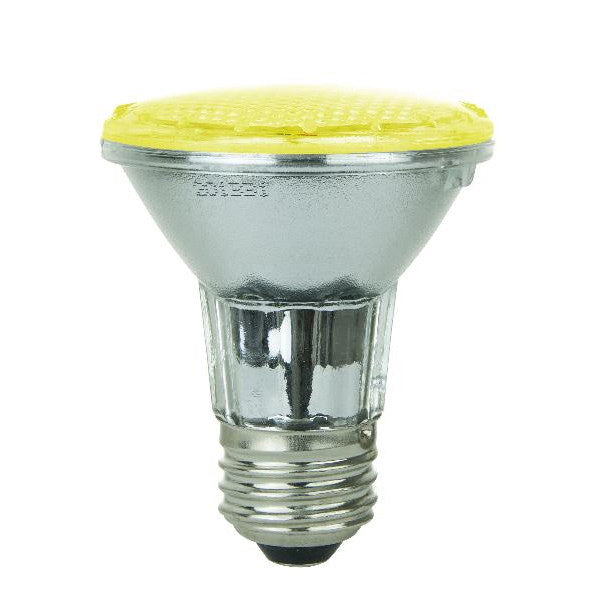 SUNLITE 2w Yellow PAR20 LED Medium Base Light Bulb