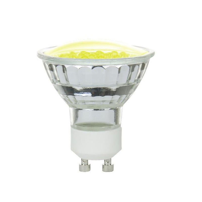 SUNLITE 1w MR16 GU10 Base 18LEDs Yellow Bulb