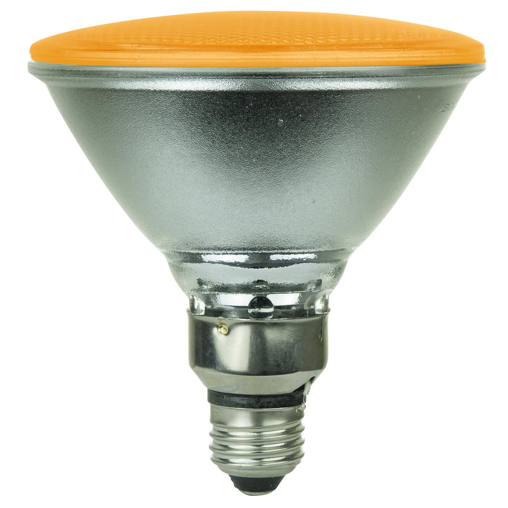 Sunlite 80068-SU LED PAR38 Colored Reflector 4w Light Bulb Amber