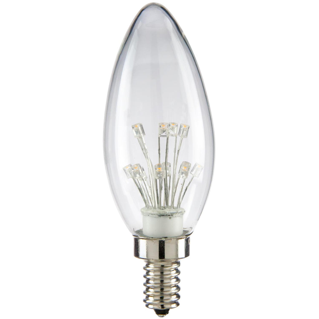 SUNLITE 80129-SU LED Vintage Star 1w Light Bulb Candelabra (E12) Base Warm White