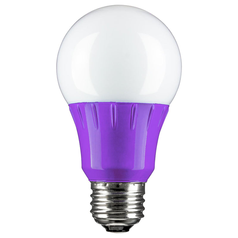 SUNLITE Purple LED A19 3w Medium (E26) Base Light Bulb  - 80132-SU
