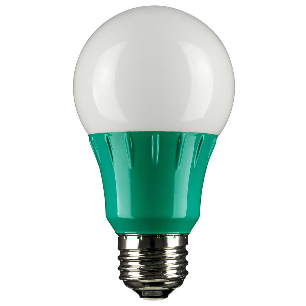 SUNLITE Green LED A19 3w Medium (E26) Base Light Bulb  - 80146-SU