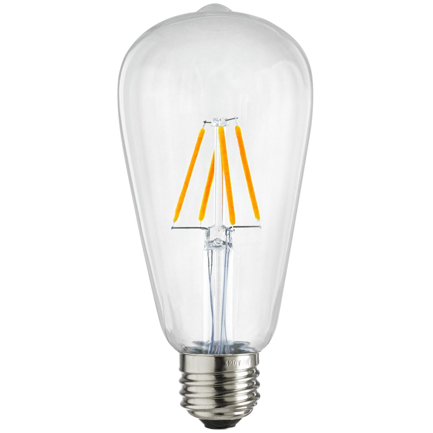 SUNLITE 80150-SU LED Vintage S19 Edison 4w Light Bulb 2700K Warm White