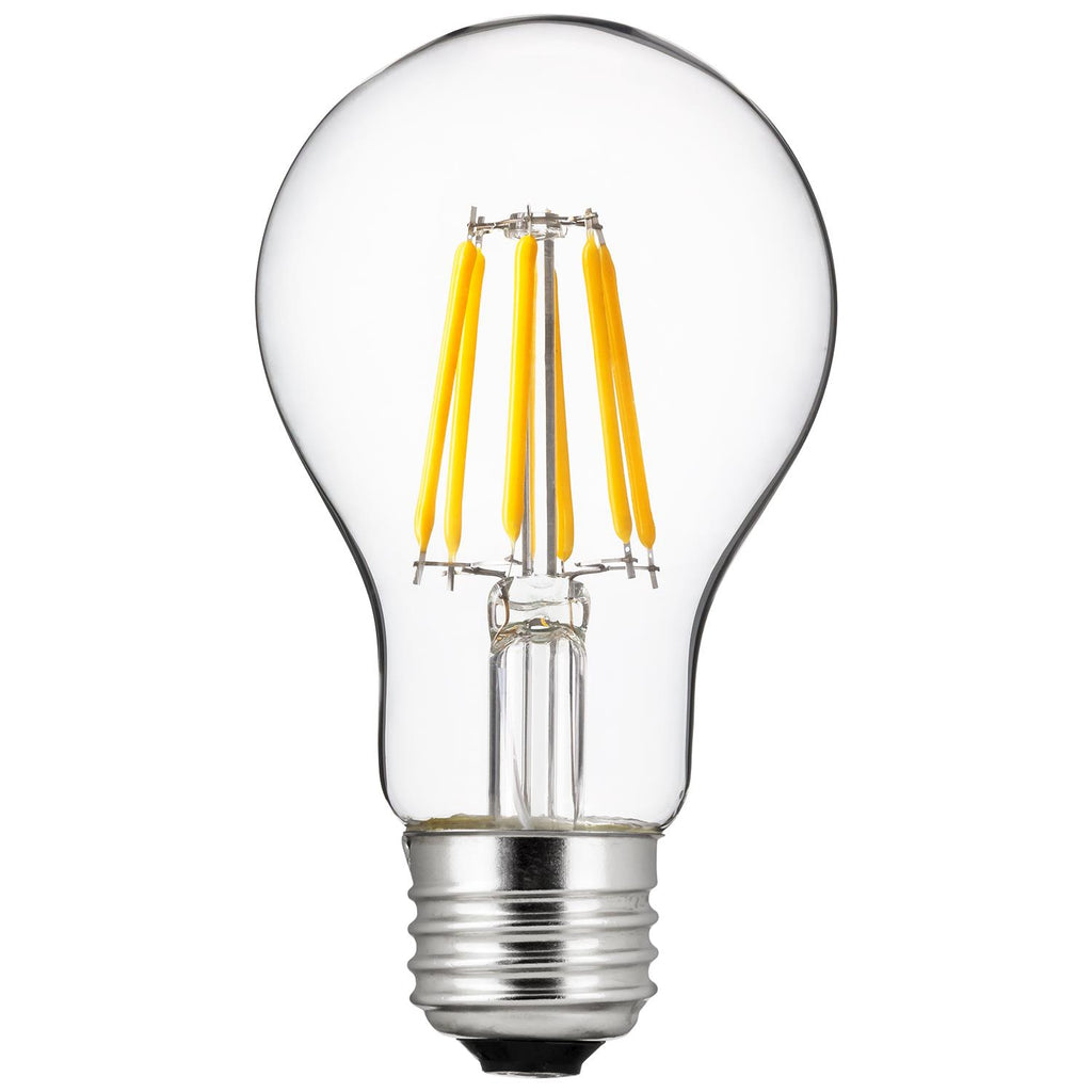 Sunlite 80189-SU LED Vintage A19 6w Light Bulb 2700K Warm White