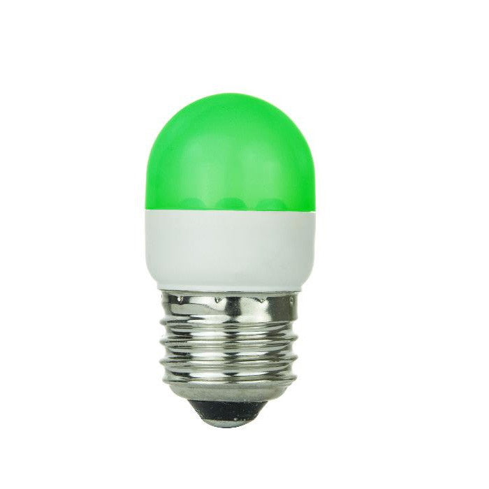 SUNLITE Green 0.5w Tubular T10 Medium Screw In Base Light Bulb