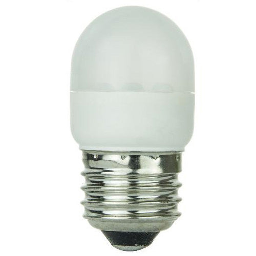 SUNLITE White LED lamp 0.5w Tubular T10 w/ Medium Base Light Bulb