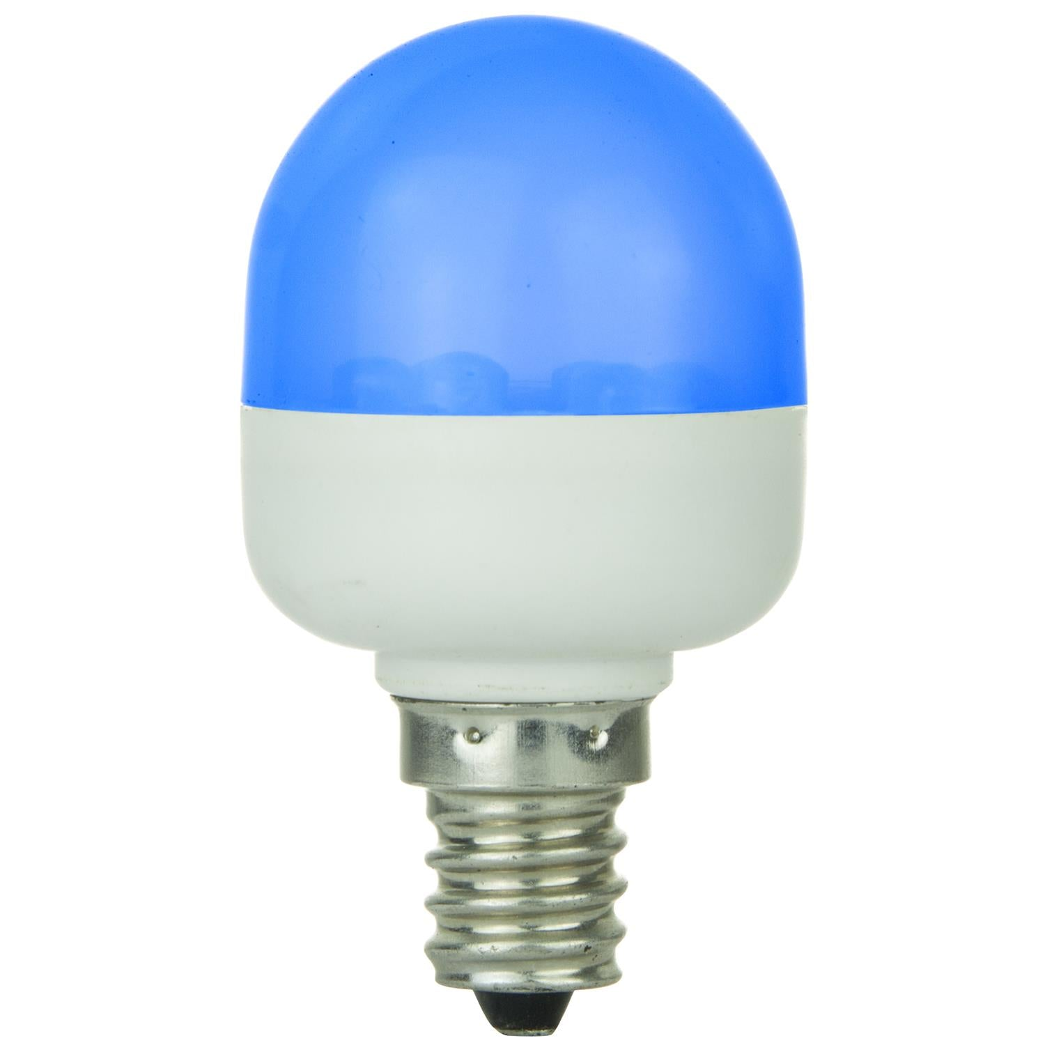 SUNLITE 80256-SU T10 Tubular Indicator Candelabra Base Light Bulb Blue