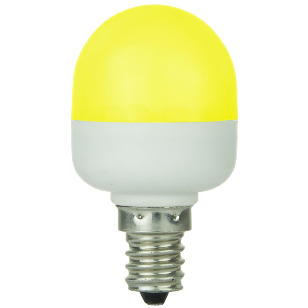 SUNLITE 80272-SU T10 Tubular Indicator Candelabra Base Light Bulb Yellow