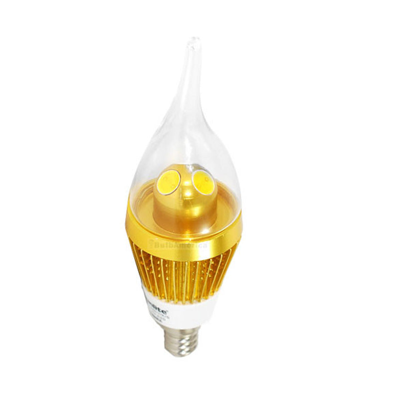 SUNLITE 3Watt LED Chandelier Dimmable Warm White light bulb
