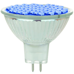 Sunlite 80305-SU LED MR16 Colored Mini Reflector 2w Light Bulb (GU5.3) Base Blue