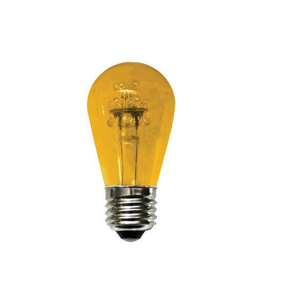 SUNLITE 0.8W 120V S14 Amber E26 LED Light Bulb