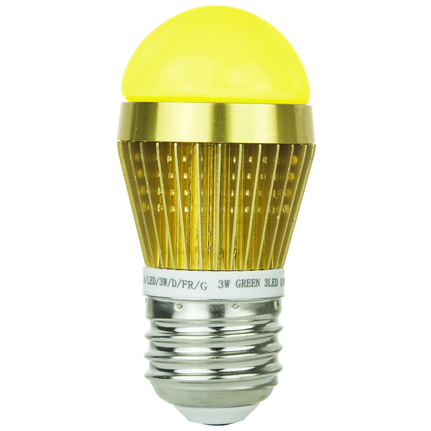 SUNLITE 80347-SU LED 3w Frosted S14 Sign Light Bulbs Yellow Light