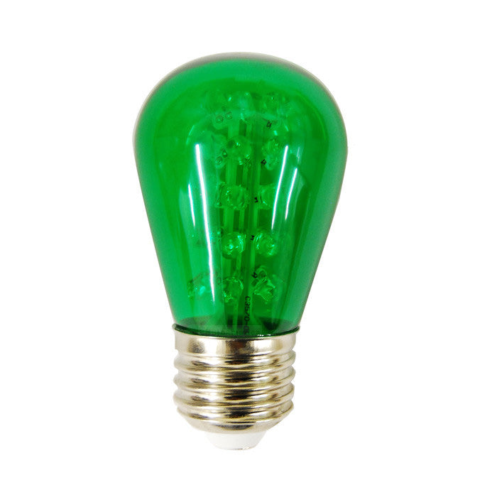 Sunlite 1.7w 120v Sign S14 30LED E26 Green LED Light Bulb