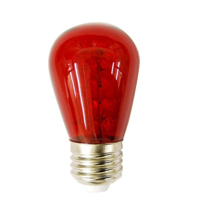 20Pk - Sunlite 1.1W 120V S14 Sign 30LED Red Light Bulb