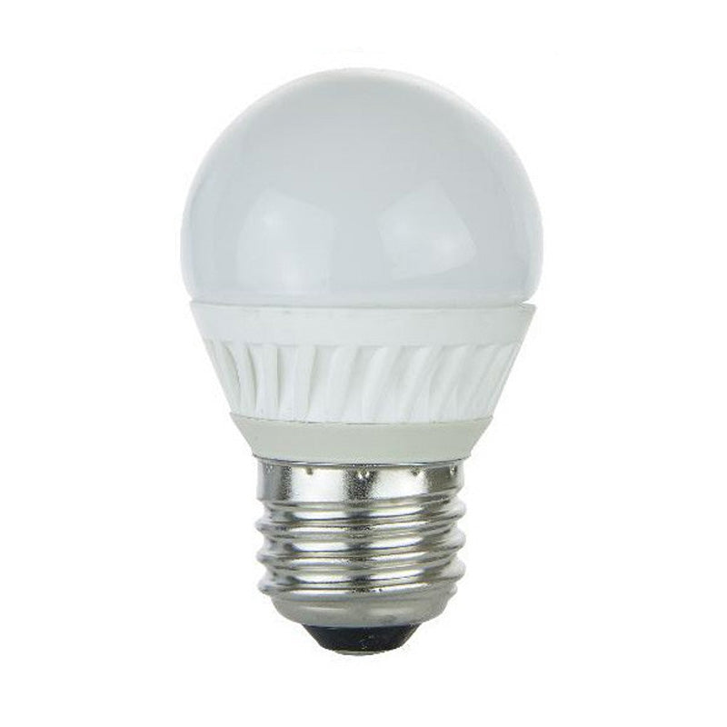 SUNLITE 4.5W 120V 3000K E26 Frosted G16.5 LED Light Bulb