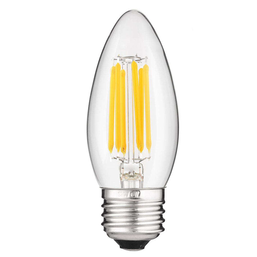 led chandelier light bulbs. Sunlite Antique Filament LED 6 Watt 2700K E26 Base Chandelier Bulbs Led Light C