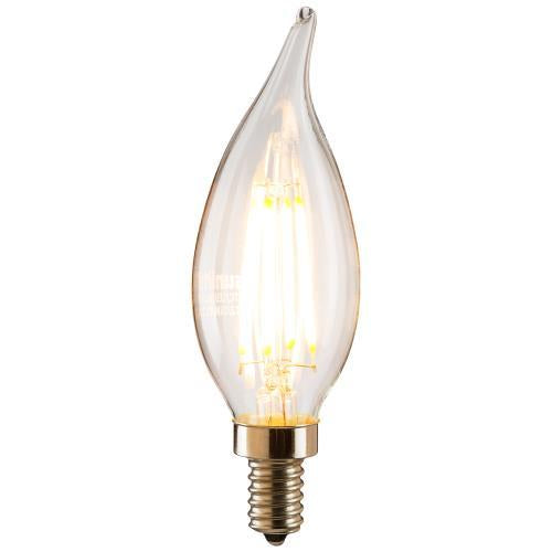 SUNLITE Antique Filament LED 4 Watt 2700K E12 Base Chandelier Light Bulb
