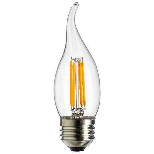 2Pk - Sunlite Antique Filament LED 4 Watt 1800K E26 Base Light Bulbs