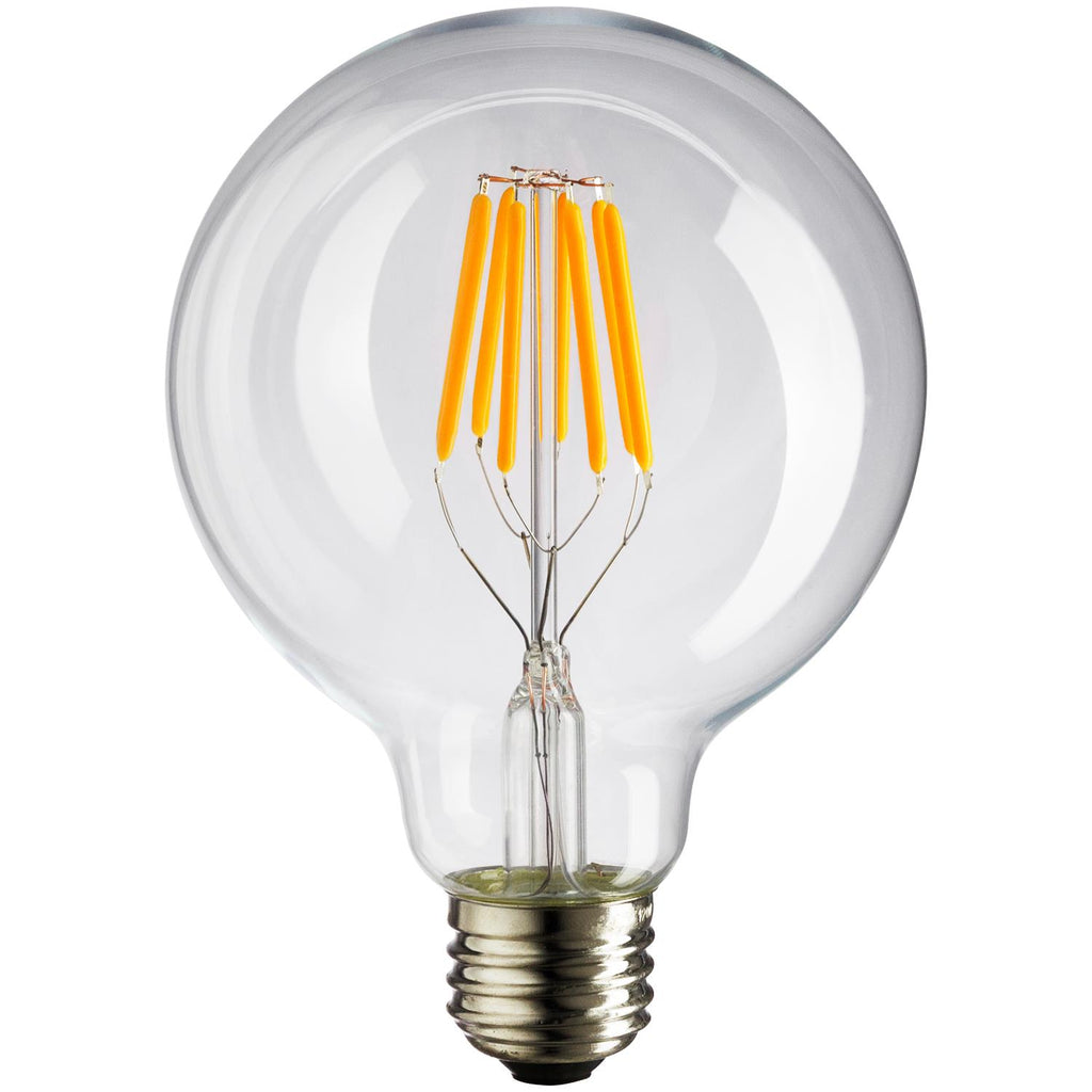 SUNLITE 80450-SU LED Vintage G30 Globe 6w Light Bulb 2200K Warm White