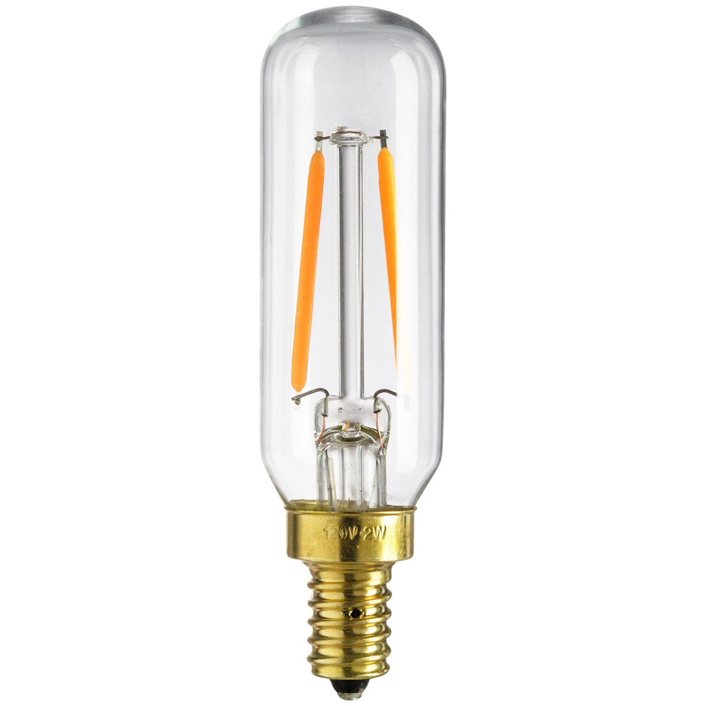 SUNLITE 80453-SU LED 2w T6 Decorative Tubular Light Bulbs 2700K Warm White