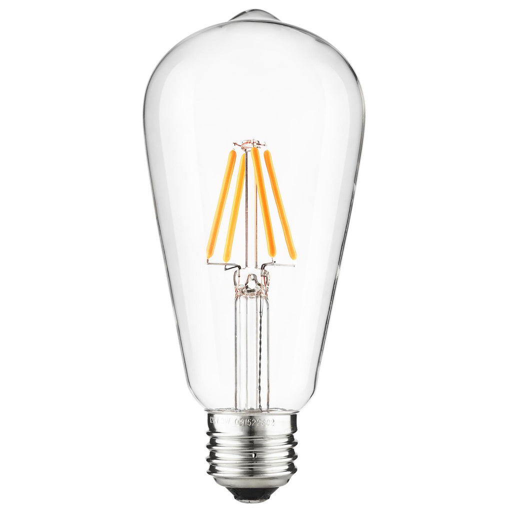 SUNLITE 80460-SU LED Vintage S19 Edison 3w Light Bulb Warm White 2200K