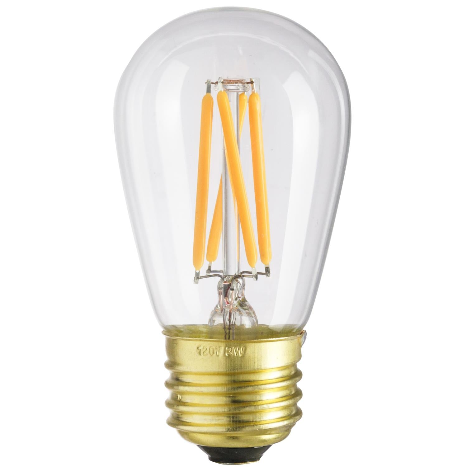 SUNLITE 80462-SU LED Vintage S11 3w Light Bulb Medium (E26) Base Warm White