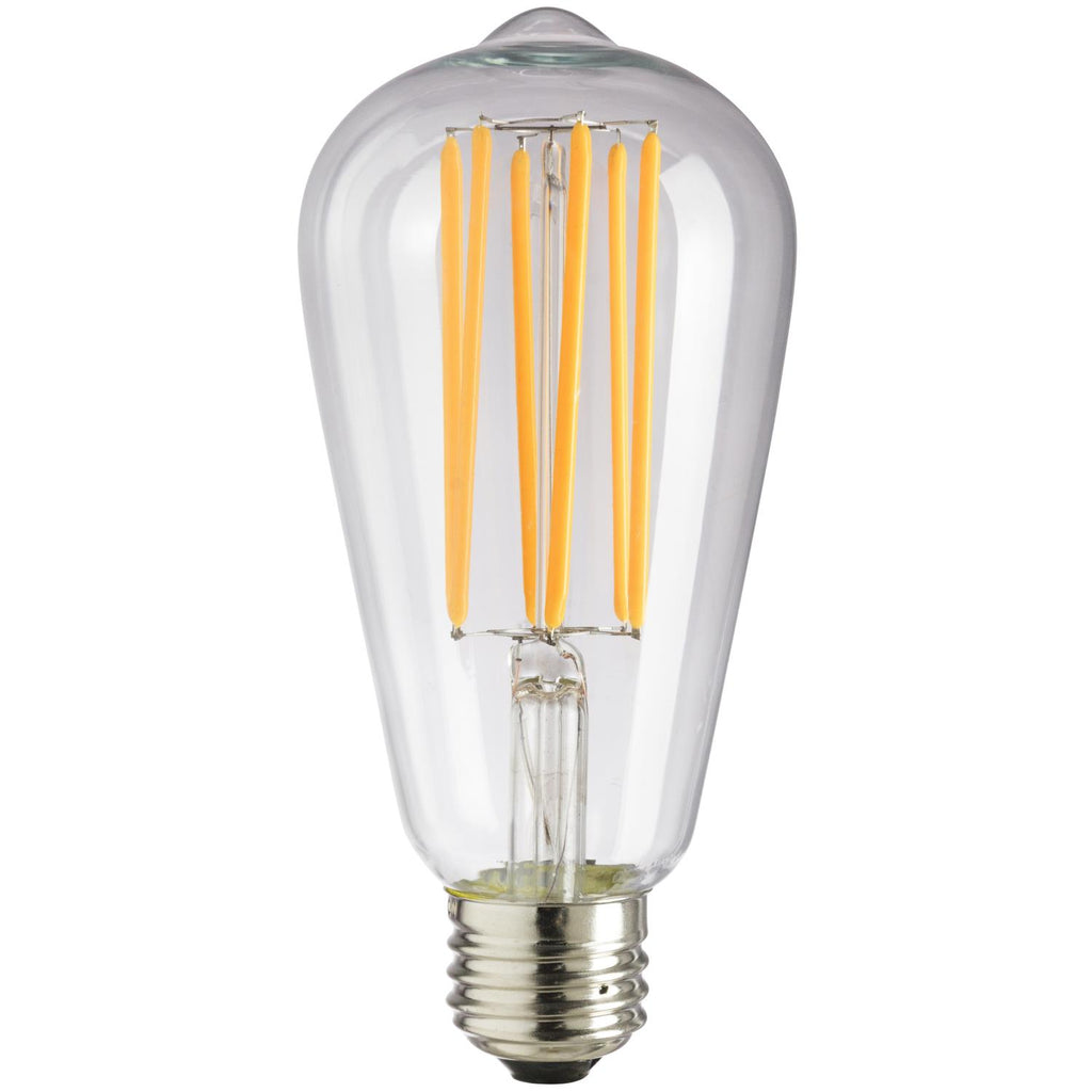 SUNLITE 80466-SU LED Vintage S19 Lamp 8w Light Bulb Medium (E26) Base Warm White