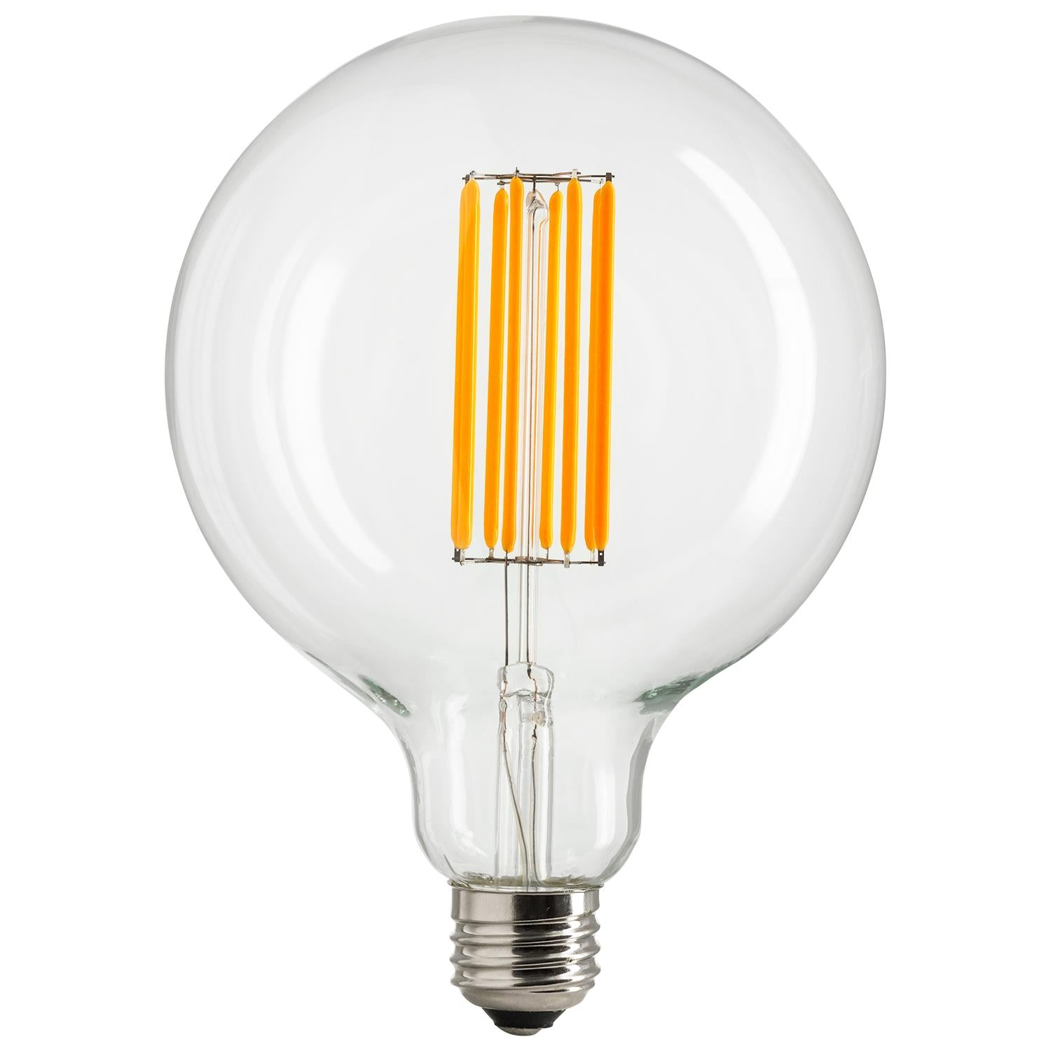 SUNLITE 80467-SU LED 8w Vintage Styled G40 Globe Light Bulbs Dimmable Warm White