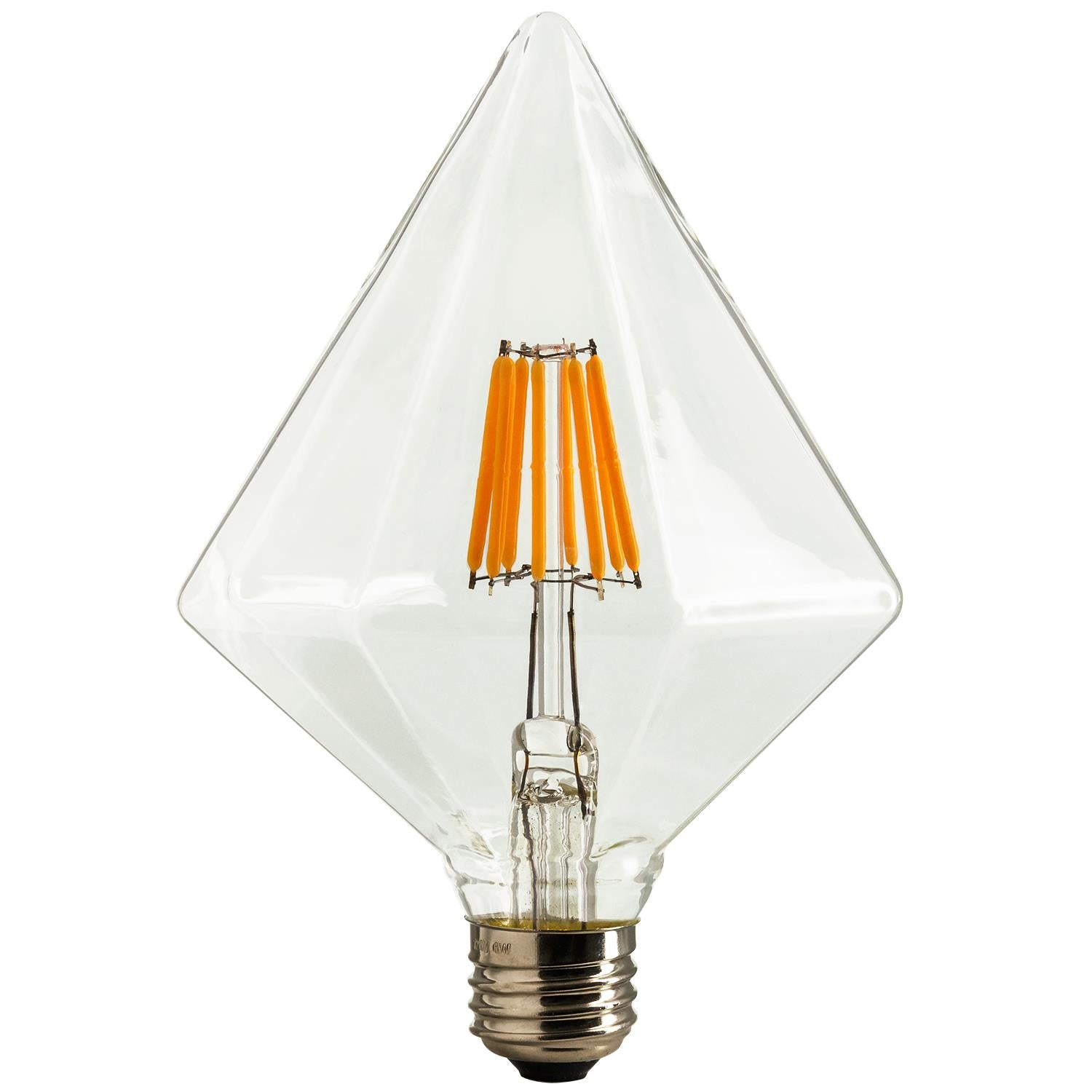 SUNLITE 80469-SU LED Vintage Diamond 6w Light Bulb Medium (E26) Base Warm White