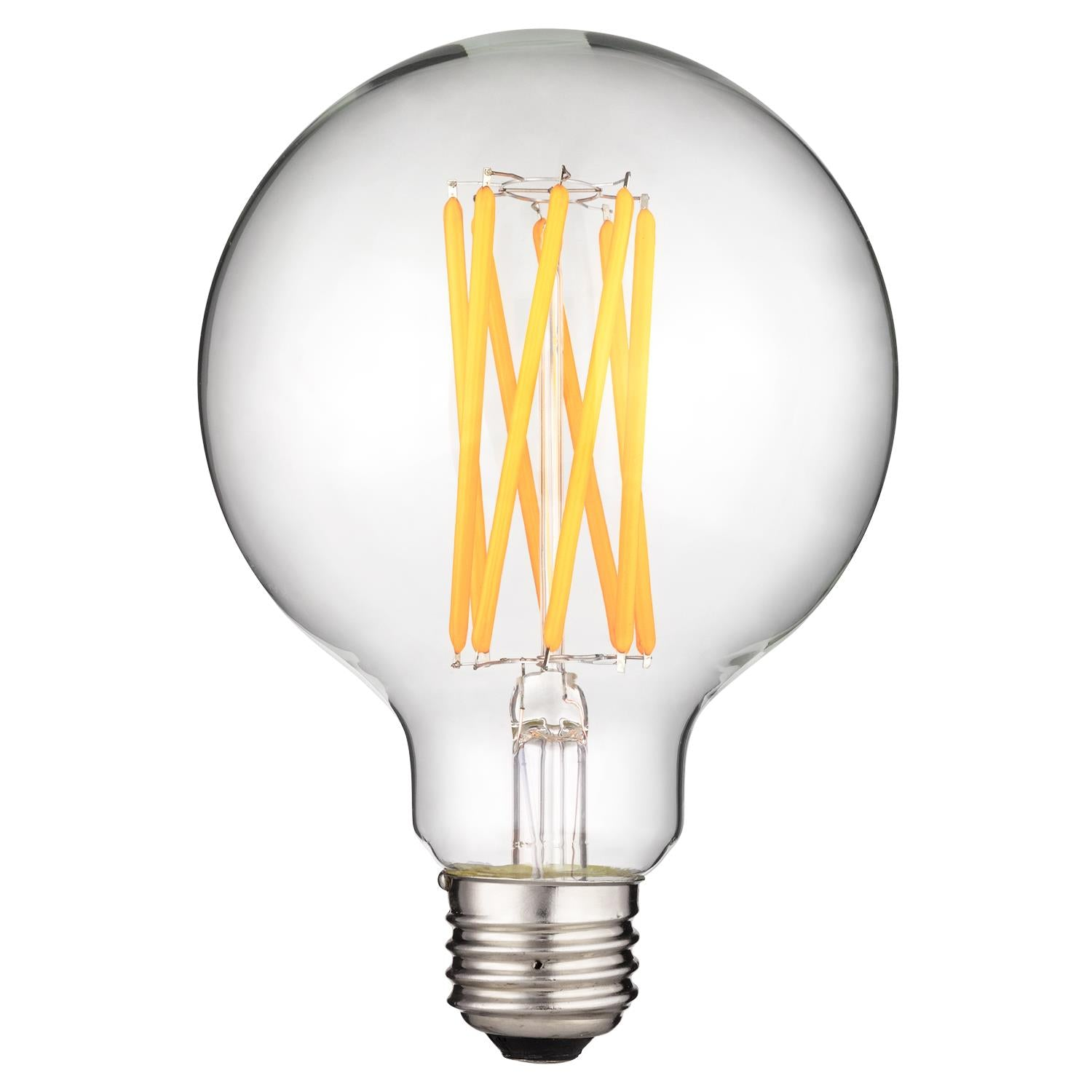 SUNLITE 80472-SU E26 G40 LED Filament 8w Clear Dimmable Light Bulb 2700K Warm White