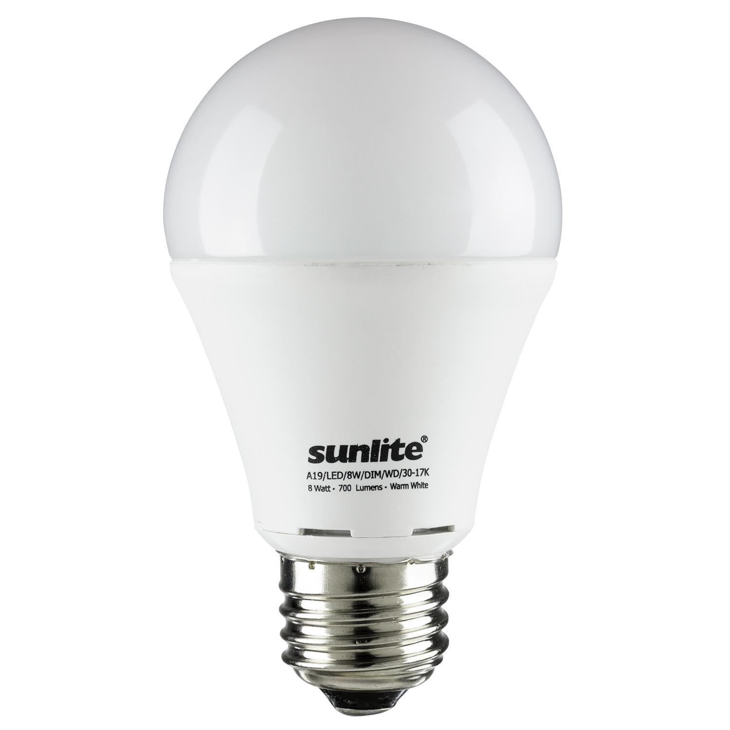 SUNLITE 80500-SU LED A19 Hospitality Series 8w Light Bulb Warm White 3000K