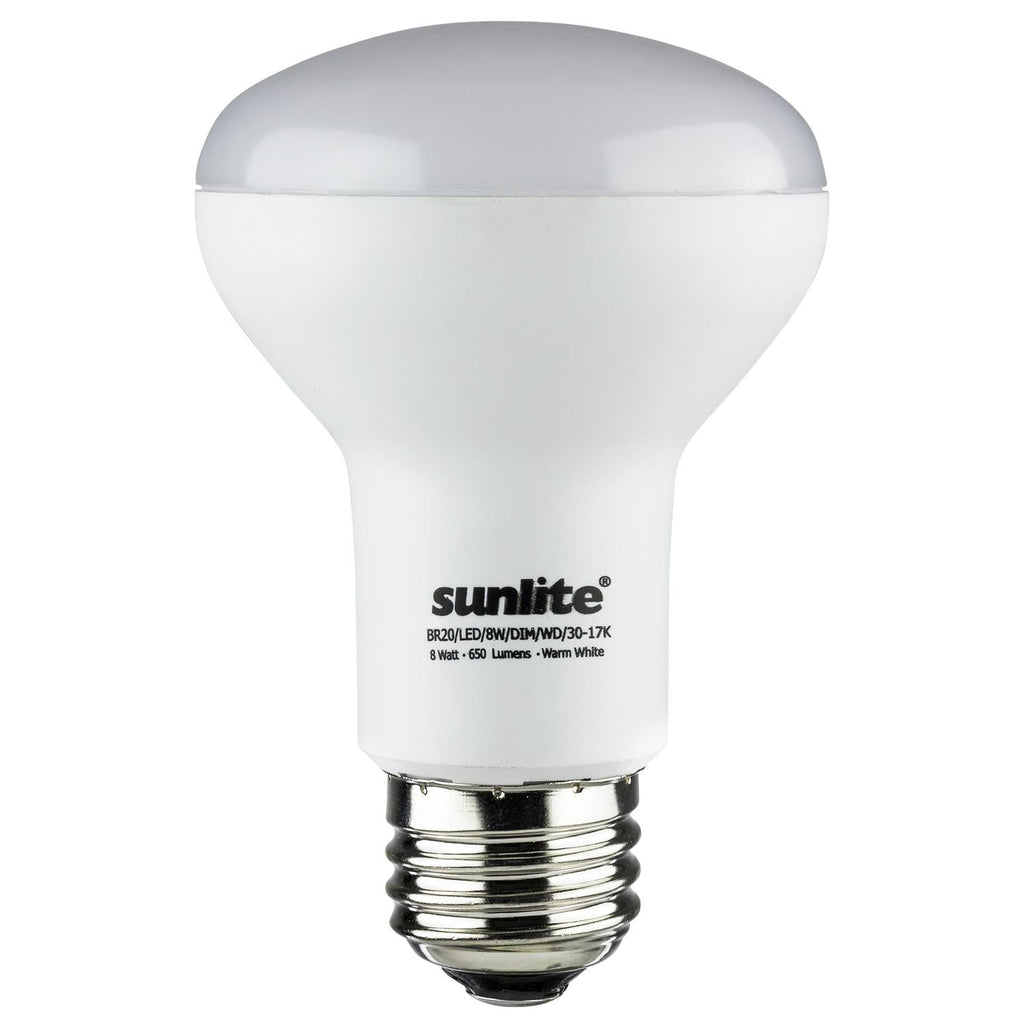 SUNLITE 80505-SU LED BR20 Hospitality Series 8w Light Bulb 3000K Warm White