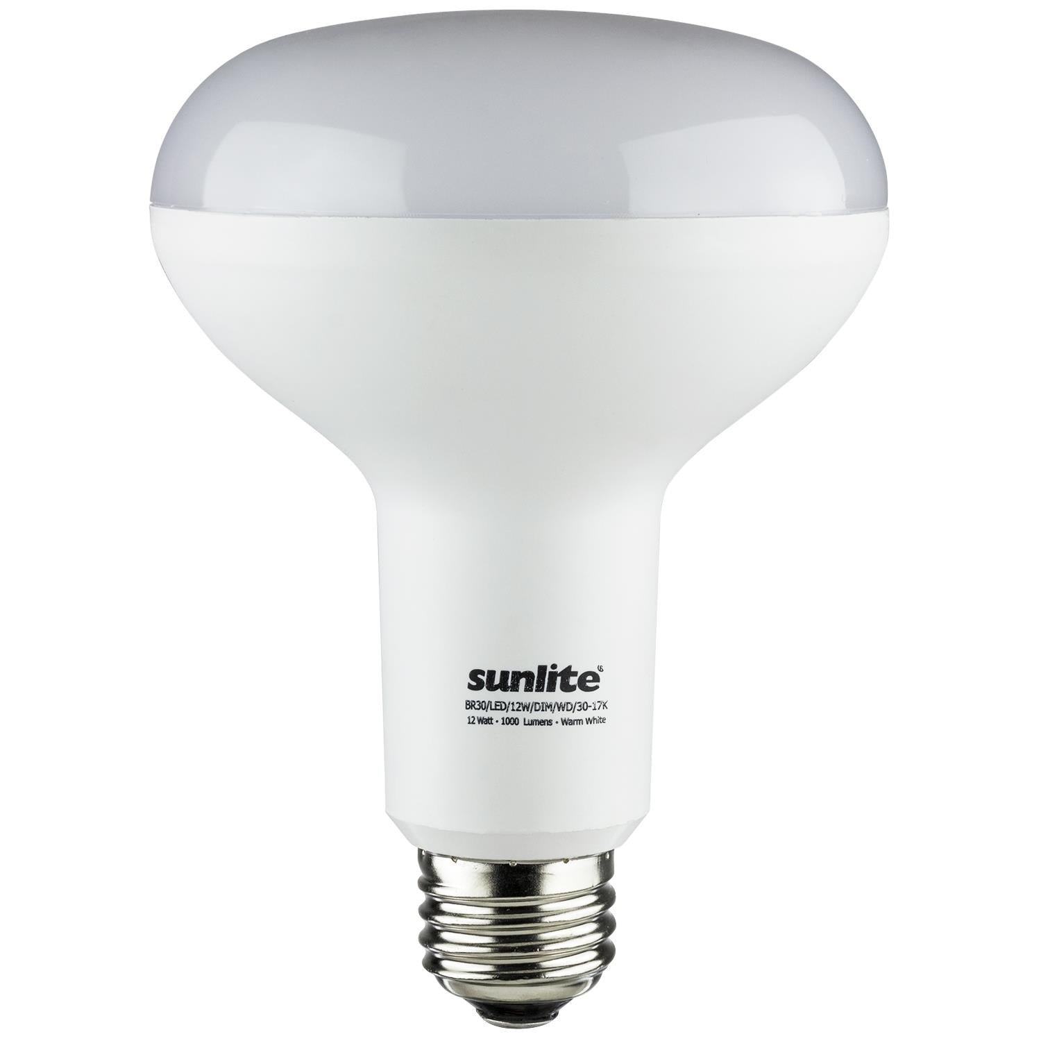 SUNLITE 80510-SU LED BR30 Hospitality Series 12w Light Bulb 3000K Warm White