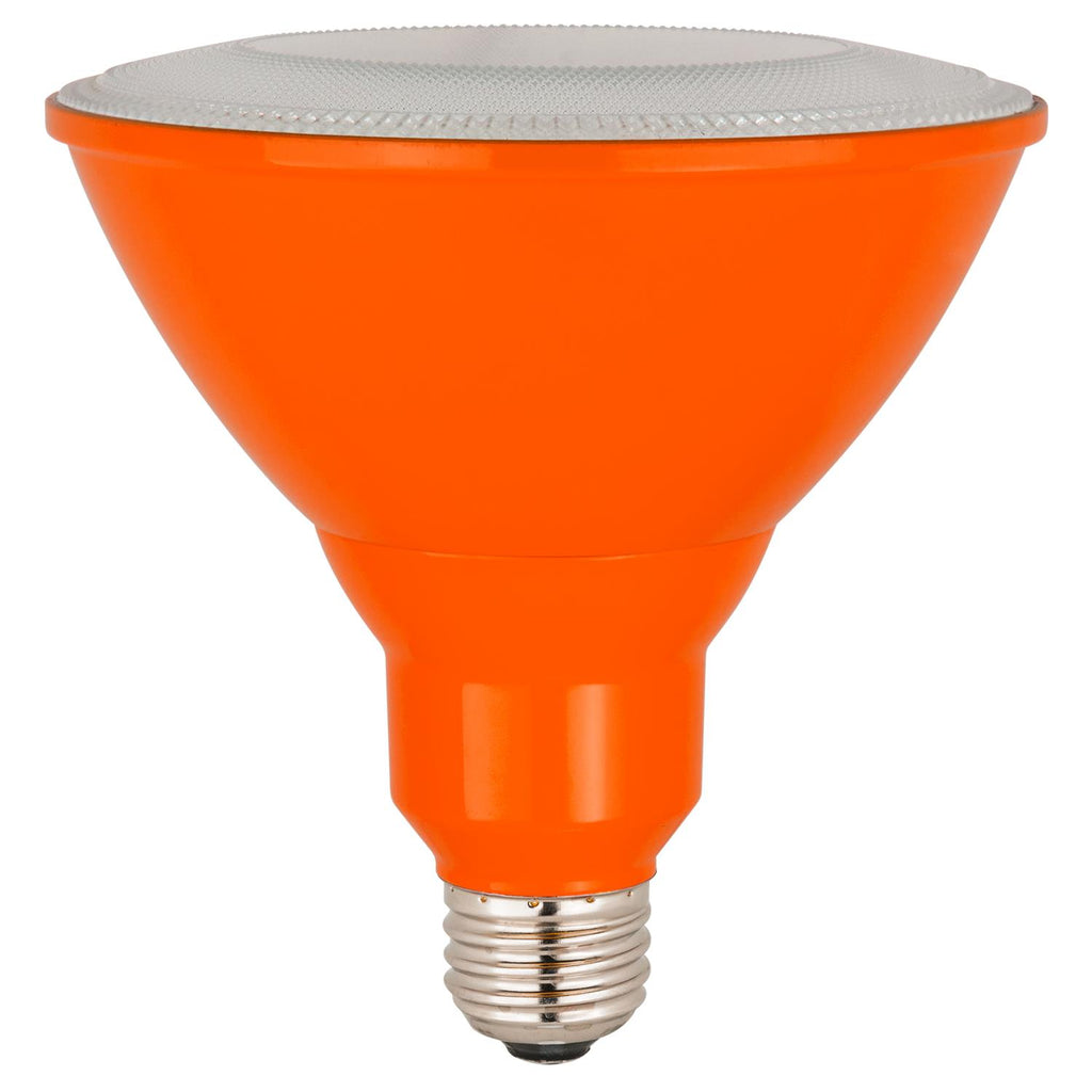 Sunlite 80554-SU LED PAR38 Colored Reflector 8w Light Bulb Orange