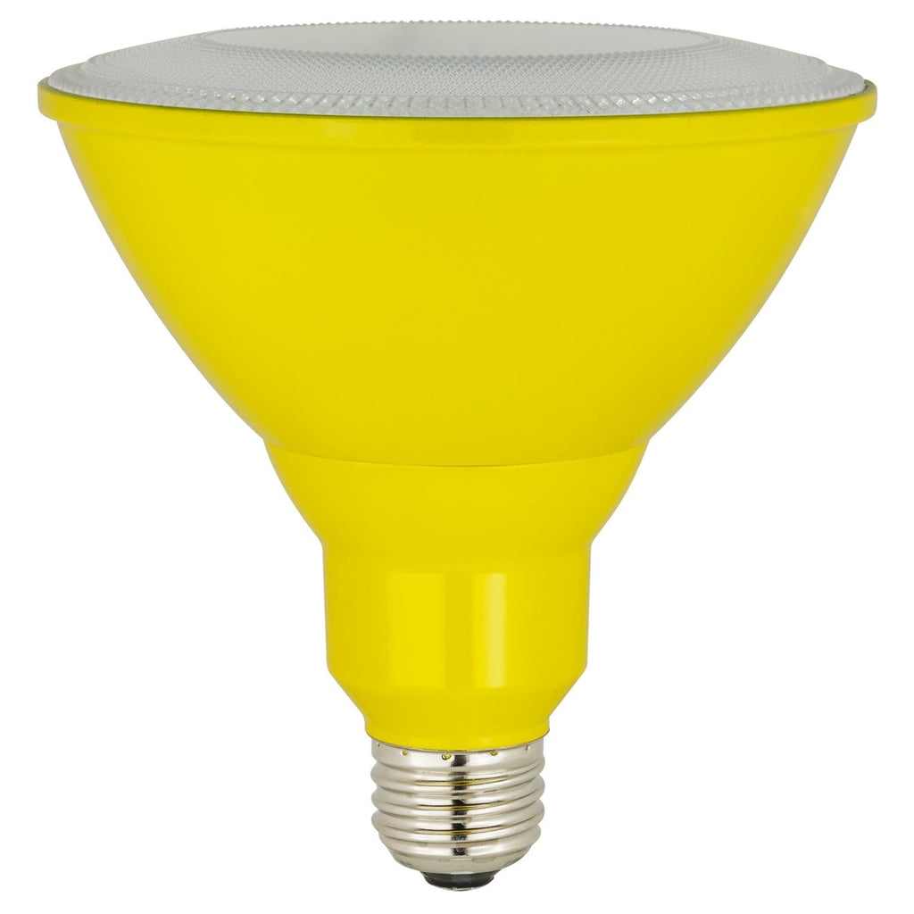 Sunlite 80558-SU LED PAR38 Colored Reflector 8w Light Bulb Yellow