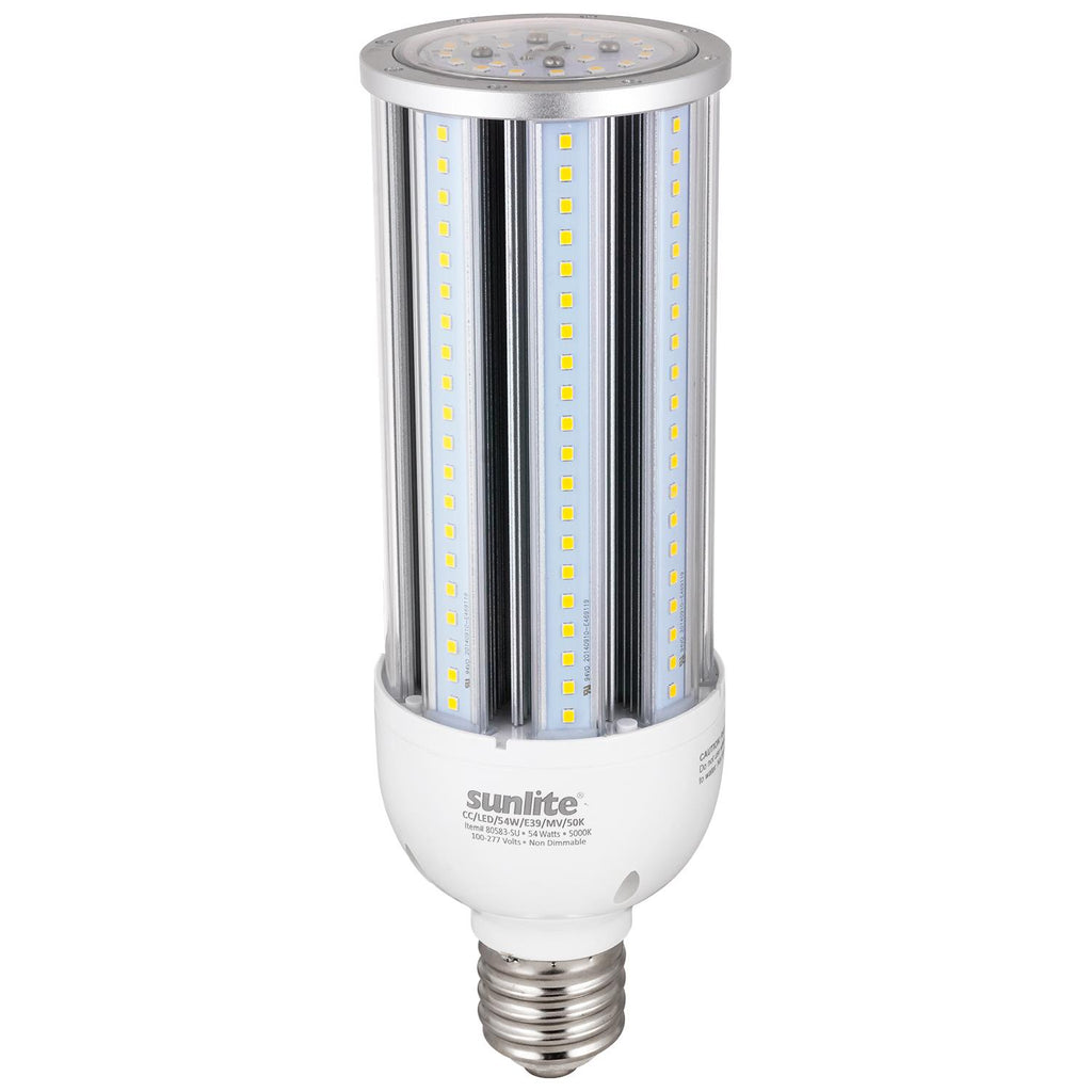 Sunlite 80583-SU 54 Watt Corn Lamp Mogul (E39) Base Super White 5000K