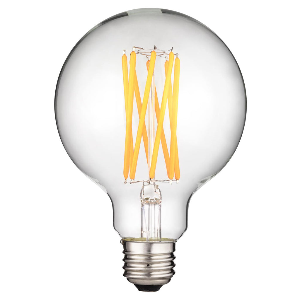 SUNLITE 8w (100w Equivalent) LED Filament G30 Dimmable 2700K Warm White