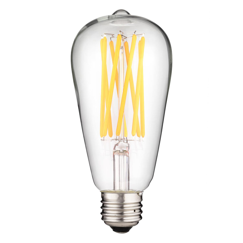 SUNLITE 80602-SU LED Antique S19 Lamp 8w Light Bulb 2200K Warm White