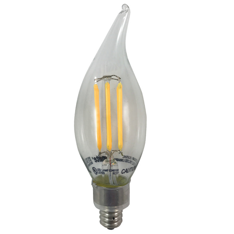 Sunlite Antique Filament LED 6 Watt 2700K E12 Base bulb - 60w Equivalent