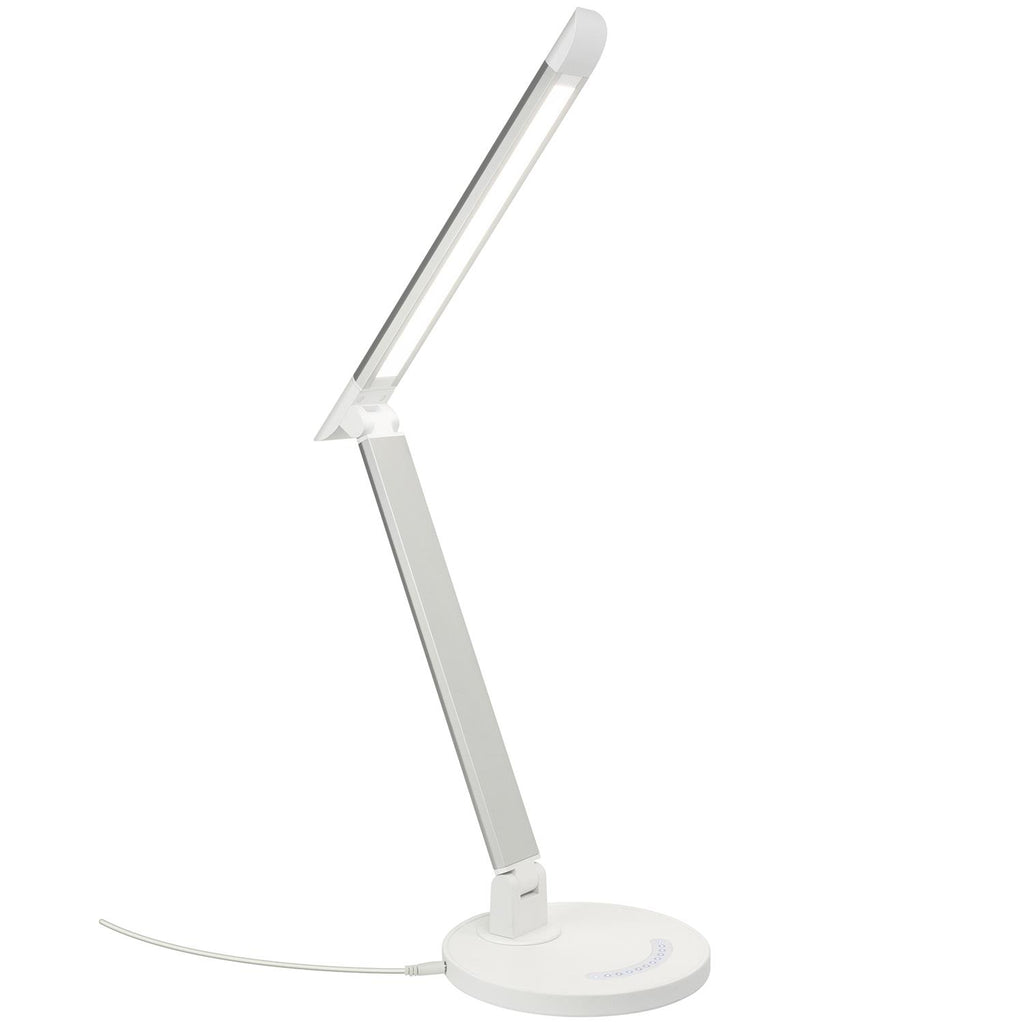 SUNLITE 80660-SU LED Desk Lamps with USB Silver Dimmable 4000K