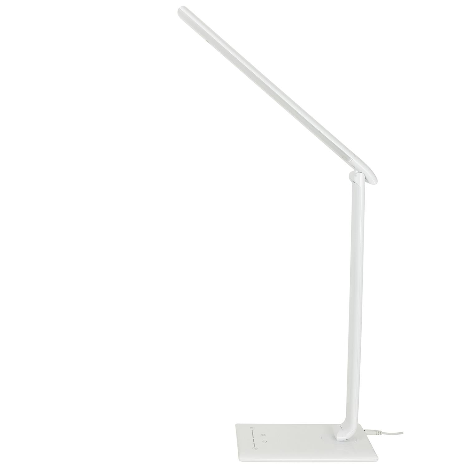 SUNLITE 80665-SU LED Desk Lamps with USB White Dimmable