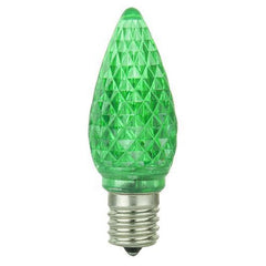 6PK - SUNLITE 0.4W 120V E17 C9 LED GREEN Light Bulb