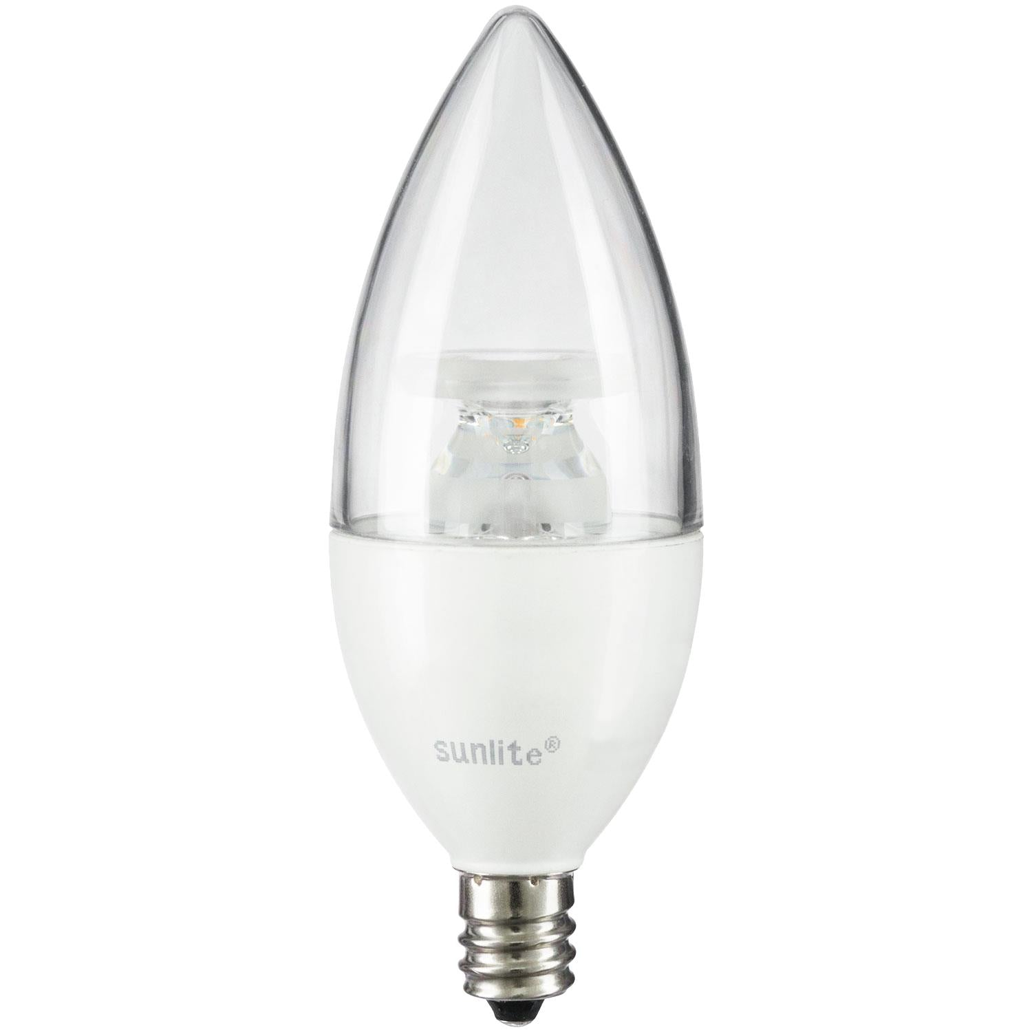 SUNLITE 80770-SU LED Torpedo Tip Chandelier 5w Light Bulb 2700K Soft White