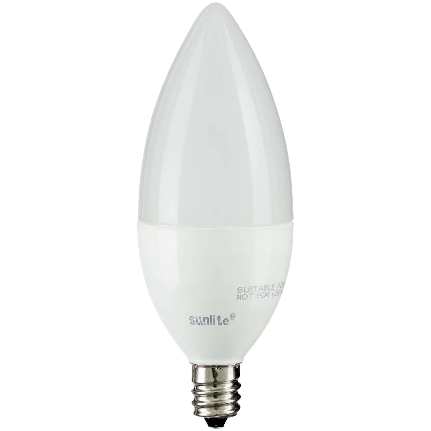 SUNLITE 80771-SU LED Torpedo Tip Chandelier 5w Light Bulb 2700K Soft White
