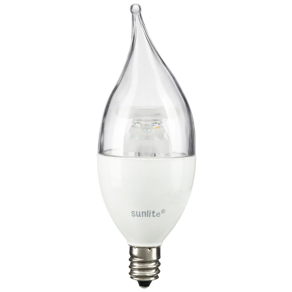 SUNLITE 80772-SU LED Flame Tip Chandelier 5w Light Bulb 2700K Soft White