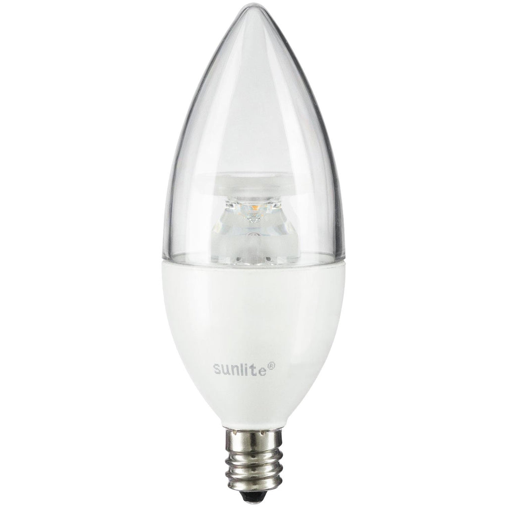 SUNLITE 80774-SU LED Torpedo Tip Chandelier 7w Light Bulb 2700K Soft White