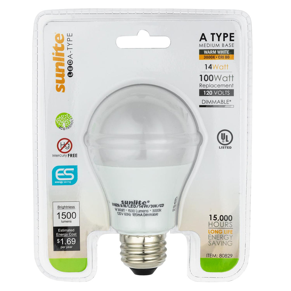 Sunlite 80830-SU LED Household 14w Light Bulbs 5000K Cool White