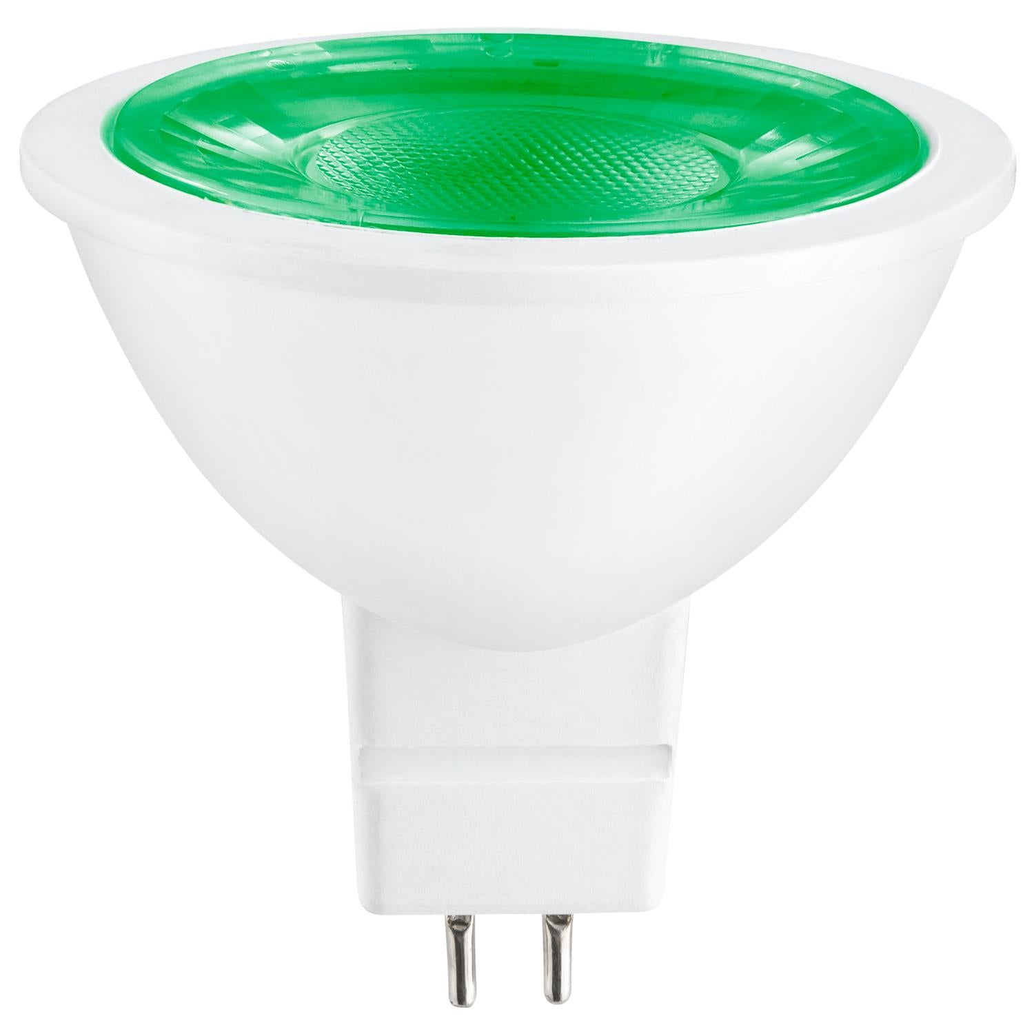 SUNLITE 3w 12v LED MR16 GU5.3 25-Watt Equivalent Green Light Bulb