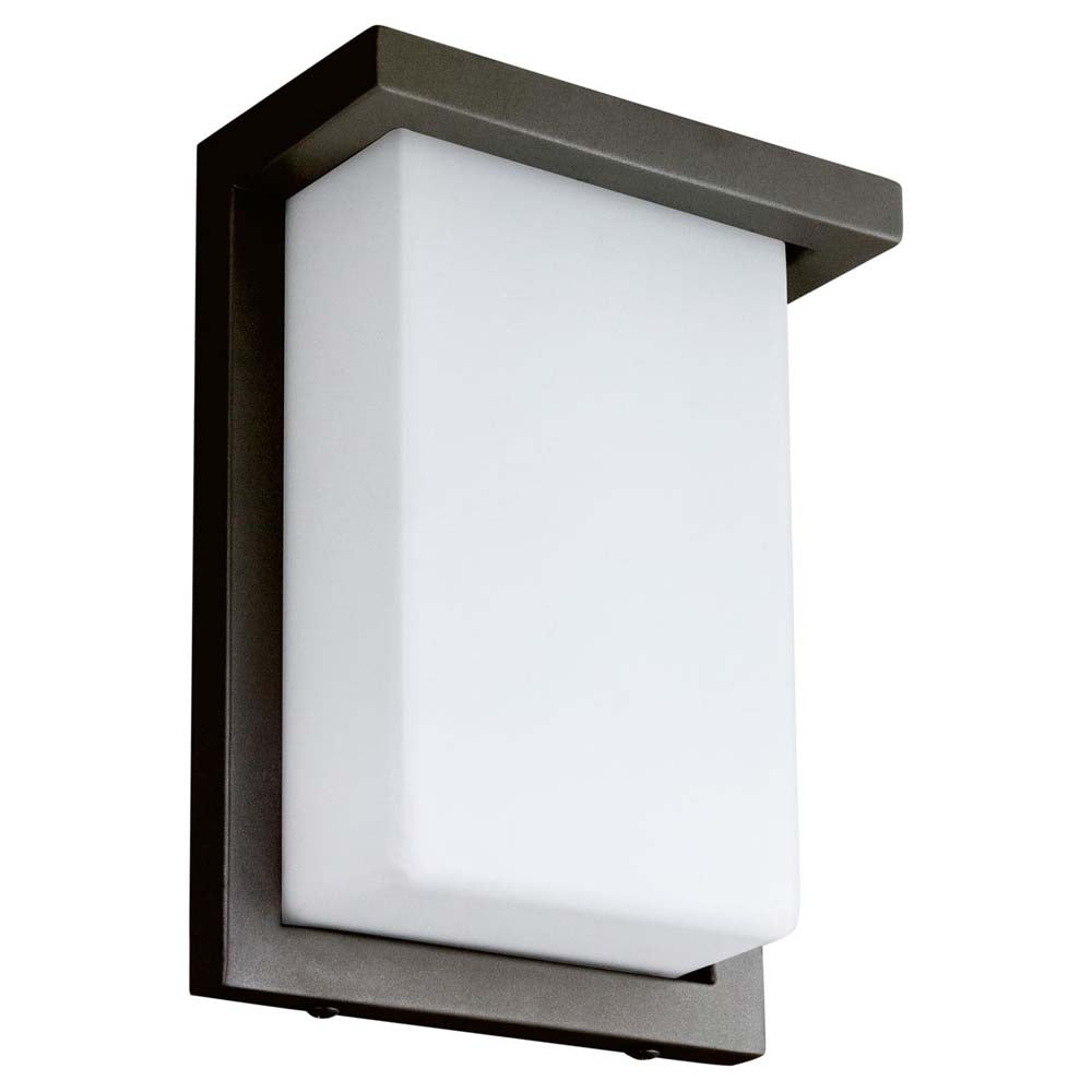 "Sunlite 81076-SU 8"" LED Modern Wall Fixture Oil Rubbed Bronze Warm White 3000k"
