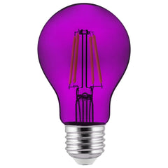 2Pk - SUNLITE Purple A19 LED 4.5W E26 Medium Base Filament Bulb